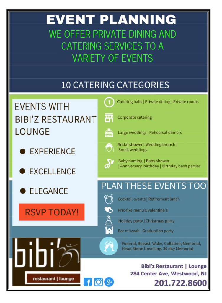 event planning, catering